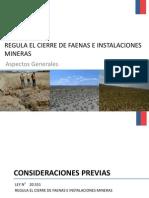 Ley de Cierre Faenas Mineras - Ley N° 20551