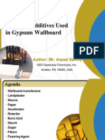 Gypsum Wallboard Additives