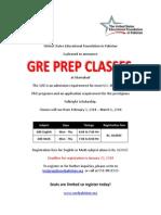 GRE PRE CLASSES