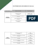 Calendario de Actividades del CEC TC Perú