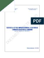 Ley Del Impuesto General a Las Ventas e Impuesto Selectivo Al Consumo