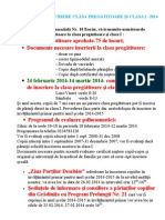 Scoala 10 Bacau - Informatii Clasa O-2014