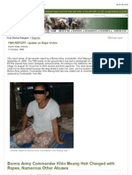 """Free Burma Rangers -- Reports- Update on Rape Victim"""