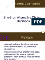 Marginal Cost Analysiis