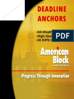 Deadline Anchors Brochure