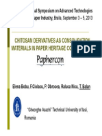 Chitosan Derivatives as Consolidation Materials the 7th Int Symposium Braila