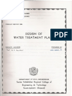 Design of Water Treatment Plant