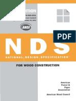 ANSI_AF&PA NDS-2001– National Design Specification for Wood Construction