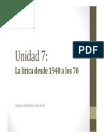 U7. La lírica desde 1940 a los 70
