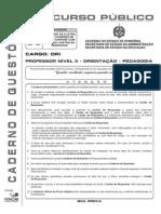 Funcab 2010 Seduc Ro Professor Nivel 3 Orientacao Pedagogia x Prova (1)