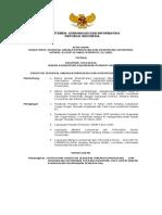 Keputusan Ditjen Sarana Komunikasi & Diseminasi Informasi 01.KEPDJ.skdiKOMINFO.11.2005 Pedoman Tata Kerja Bakohumas Pemerintah