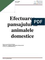 Pansajul La Animale Domestice