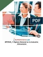 Higiene General en la Industria Alimentaría. José Antonio Peñafiel Vásquez. Licenciado en Educación en Industrias Alimentarías