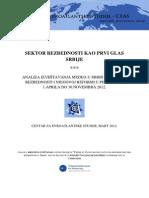 Sektor bezbednosti kao prvi glas Srbije