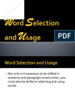 Group 3 - Word Selection and Usage