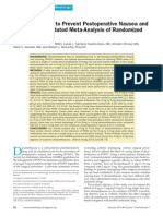 Dexamethasone to Prevent Postoperative Nausea and Vomiting an Updated Meta-Analysis of Randomized Controlled Trials