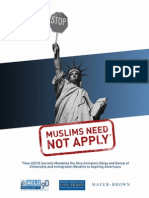 Report from ACLU on discrimination against Muslims and people of the Middle East.