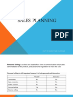 Chpater 3 Sales Planning