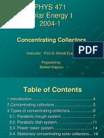 Concentrating Collector Serkan Kapucu
