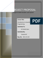 project proposal Programmable Number Lock System