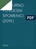 Kulturno Povijesni Spomenici (2014.)