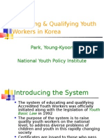 Educating & Qualifying Youth Workers in Korea