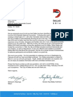 Dallas Letter Jewish Council