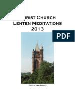 Lenten Meditations 2013 (1)