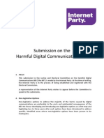 HDC Bill Submission by Internet Party