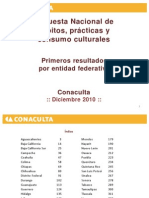 Encuesta Nacional Entidad Federativa