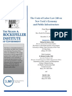 The Costs of Labor Law 240 on New York's Economy and Public Infrastructure