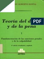 Teoria Del Delito y de La Pena - Tomo i - Edgardo Donna