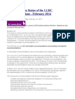 Implementation Status of the LLRC Recommendations - February 2014