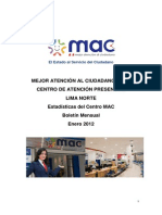 Presentacion de Atenciones Centro MAC Enero a 2012