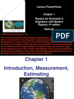 Lecture_Ch01 Introduction, Measurement, Estimating
