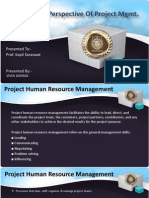 HR and Cost Perspective of Project management