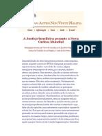 A Justiça brasileira perante a Nova Ordem Mundial