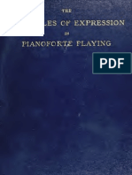 Principle of expression in pianoforte playing