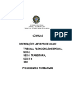 SUMULAS ORIENTAÇÕES JURISPRUDENCIAIS