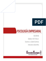 Psicología Empresarial U1