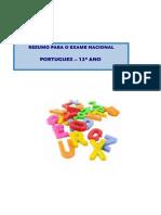 Resumo Exame Portugues