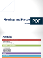 Meetings and Proceedings (Companies Act)