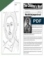Children's Word bulletin for Sunday, February 23, 2014