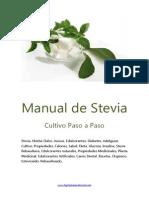 Cultivo Stevia Rebaudiana Bertoni