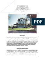 Springside House Historic Paint Analysis
