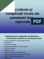 Accidente şi complicaţii locale ale anesteziei loco-regionale