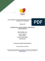 Certificación y reforma policial. Experiencia internacional. Insyde