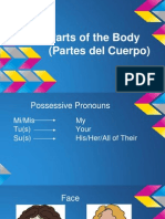 parts of the body powerpoint