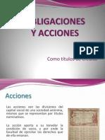 Acciones y Obligaciones como título de crédito