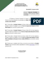Edital N 008-14 Resultado Preliminar Eagro 2014
